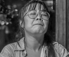 Playing Against Stereotype (MarcCooper_1950) Tags: blues music musician livemusic monochrome portrait fujifilm xt10 tarzana cadillacsackbluesshow mauisugarmillsaloon rennygoh keyboard keyboardist piano pianist