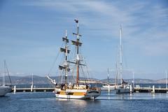 Lady Nelson (zenseas) Tags: hobart ladynelson tasmania sailing sailboat tallship sunny harbor australia south southern southernhemisphere vacation holiday elizabethpier ladynelsontallship ship boat waterfront pier somersetonthepier sullivanscove httpwwwladynelsonorgau
