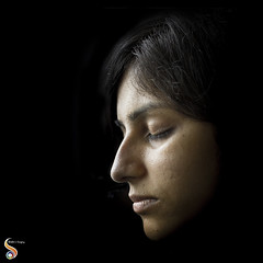 In the realm of dream (Shikher Singh) Tags: sleep dreem lady girl woman darkness light lowlight profile face shikhersimagery shikher'simagery