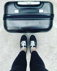 Adventure (alliejehle) Tags: travel shoes vans suitcase blue explore adventure montreal quebec