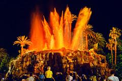 Mirage Volcano (tltichy) Tags: hotel casino crowd desert eruption lasvegas mirage nevada night outdoors show spectators travel vegas volcano