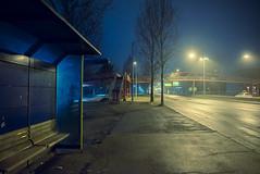 midnight hour (19seconds) Tags: ullevaal oslo night street road lights busstation midnight nikon28mmf18 cityscape travel