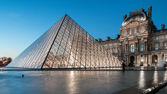 Seeing the sights (McQuaide Photography) Tags: paris france french républiquefrançaise iledefrance europe sony a7rii ilce7rm2 alpha mirrorless 1635mm sonyzeiss zeiss variotessar fullframe mcquaidephotography adobe photoshop lightroom tripod manfrotto light availablelight bluehour twilight dusk longexposure city capitalcity urban lowlight outdoor outside architecture building wideangle wideanglelens modern modernarchitecture water reflection pyramid geometry shape form geometric louvre muséedulouvre courtyard historic museum landmark icon famous travel tourism culture cournapoléon court impei glass metal triangle triangular 169 widescreen