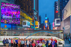 Group Shot in NYC (PhotographerDriver) Tags: newyork unitedstates group shot new york city nyc diamond tours nyny busdriverbrucecom bruce robertson vandalia bus lines travel charter canon 6d lightroom photoshop