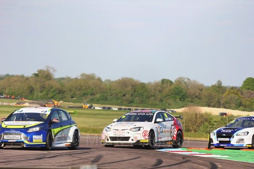 Stephen Jelley and Aron Taylor-Smith at the BTCC Thruxton weekend, May 2017