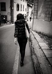 Walk alone (fabiokappa82) Tags: woman donna walk alone alagna italy bw