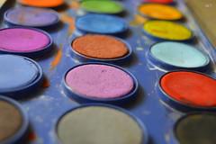 palette of life (Doctor Ahmed Badr) Tags: palette art color colour orange yellow blue pink violet purple macro closeup gimp nikond3200 red green