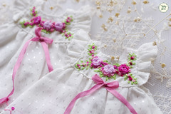 Embroidery Rose Dress (Ylang Garden) Tags: embroidery latiyellow pukifee dress pink ribbon silk