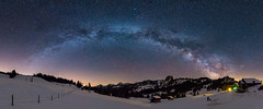 1 Night on the Ibergeregg (PhiiiiiiiL) Tags: milkyway panorama night sky stars schwyz schweiz ch milky way snow landscape long exposure langzeitbelichtung high iso switzerland suisse nikon d810 tamron 1530