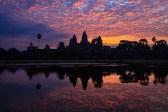 The iconic sunrise view of Angkor Wat, Siem Reap, Cambodia (Kenneth Back) Tags: jungle morning canon5dsr landscape angkorwat colors canon cambodia siemreap temple sunrise krongsiemreap siemreapprovince kh pond ancient
