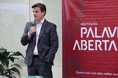 O presidente da ANER, Fabio Gallo, durante a sua apresentação