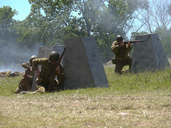 reload (greatbigphotoparty) Tags: 36th infantry division attack wwii us army camp mabry reenactment m1 garand