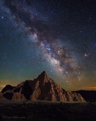 "Milky Way over Cathedral Gorge (IronRodArt - Royce Bair (""Star Shooter"")) Tags: nevada cathedralgorge cathedralgorgestatepark erosion milkyway stars starrysky starrynight starrynightsky universe geology bentonite nightscape nightscapes nightphotography"