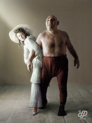 Dorian Leigh and Maurice Tillet, 1945 - Photographed by Irving Penn (Chicken 62) Tags: dorian leigh maurice tillet 1945 irving penn