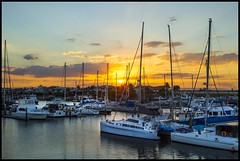 Sunset over Newport Canal-2=