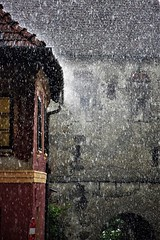 Storm in Sighisoara (Ioan BACIVAROV Photography) Tags: storm rain water drops sighișoara touristdestination tourist wellpreserved oldtown town city history historic panorama colours coloured unesco worldheritagesite citadel attractions towers medievalcity medieval transylvania romania building color colourful histoire tower