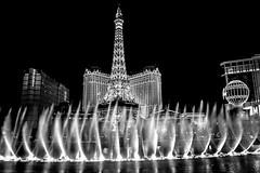 Las Vegas night light (torchialuigi) Tags: black white las vegas tower water music travel night light