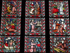 BRUJAS - IGLESIA DE NUESTRA SEÑORA - VIDRIERAS (mflinera) Tags: brujas belgica iglesia de nuestra señora vidrieras