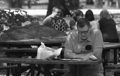 Everyday People, Morton Arboretum. (EOS) (Mega-Magpie) Tags: canon eos 60d outdoors people person guy gal man woman lady dude the morton arboretum lisle il dupage illinois usa america bw black white mono monochrome