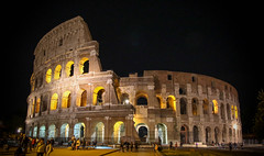 Colosseum @ Night (Andy.Gocher) Tags: andygocher canon100d canon1018mm wideangle europe italy rome city colosseum night lights architecture building history