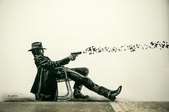 Jef Aerosol (dprezat) Tags: jefaerosol clinteastwood eastwood roubaix conditionpublique expo streetgenerations street art graf tag pochoir stencil peinture aerosol bombe painting urban nikond800 nikon d800