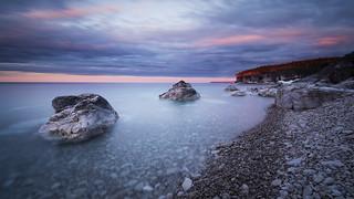 Soft Sunset Rocks