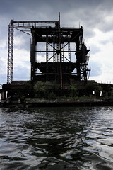 Black Tower (95wombat) Tags: abandoned decayed rotted rusty crusty arthurkill portreading newjersey