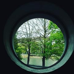 it's spring outside (Rosmarie Voegtli) Tags: window rund round trees spring square iphone museum landesmuseum zurich neubau anbau architektur architecure rond