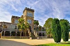 It is a mock castle (T Ξ Ξ J Ξ) Tags: newzealand dunedin d750 nikkor teeje nikon2470mmf28 day larnach castle green trees garden