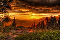 Stormy Sunset Skies (Michael F. Nyiri) Tags: california sequoianationalpark nature landscape sequoiatrees trees beetlerock sunset
