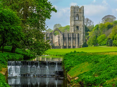 Nice day Out (tubblesnap) Tags: fountains abbey national trust studley royal ruins weir stream