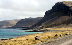 more turquoise ocean (kexi) Tags: iceland europe view landscape paysage blue turquoise fjord water ocean atlanticocean road mountains coast shore canon may 2016 north instantfave
