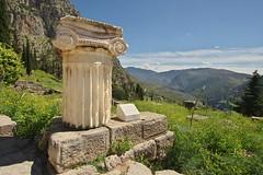 A bit of column (Delphi, Greece) (armxesde) Tags: pentax ricoh k3 griechenland greece delphi ruins ruinen tempel temple säule column mountain berg parnassos