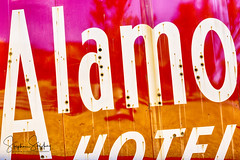 Alamo Hotel Abstract (stephenstookeyphotography@gmail.com) Tags: alamo alamohotel sign hotel motel alamocourt dallas sanantonio vintage modern abstract vintagesign westdallas old signs oldsign rivercity rememberthealamo motorcourt alamomotorcourt unescoworldheritage orange pink white neonsign signage texas lonestarstate