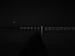 Beach Party I (ChrisRSouthland) Tags: beach beachparty surreal night nightshot nightphotography bw monochrome blackandwhite iphone iphone6 iphonephotography