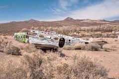 Crashed Plane (nikons4me) Tags: airplane crashed ruins nv nevada beatty angelsladies brothel nikond300 sigmaaf1850mmf3556dc fran'sstarranchbrothel beechd18 highway95