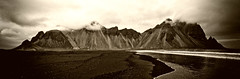 Vesturhorn - Iceland (a.penny) Tags: stokksnes iceland island nikon d7100 apenny panorama reflection bleach bypass vesturhorn tokina atx 116 1116mm dx pro
