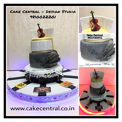 Musical Cake #firstbrthday #designercake #delhi #fondant #themed #musical #themed #beatle #rockband #music #rock #newdelhi #southdelhi #designer #cake #birthday #boyfriend #anniversary #personalised (Cake Central-Design Studio) Tags: firstbrthday designercake delhi fondant themed kidscake