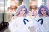 Who's in the Mirror (darkmasterxxx) Tags: sexy laday portrait women bangkok reflextion cute purple siam doppelgänger ladyinmirror pretty mirror model purplehair thailand annoy