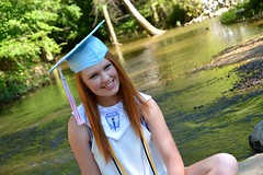 DSC_0358_Fotor (ashlyn.maria) Tags: senior high school highschool graduate grad graduating graduates student students schools college colleges class 2017 seventeen eighteen years old red head cap gown light blue hillcrest honors society beta club water tassel tassels long hair white dress pretty beautiful portrait portraits smile smiling happy summer