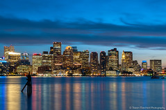 Boston City Skyline | 16th May 2017 (tristanmarchent) Tags: boston usa night time photography nighttime city skyscraper sky sun sunset boat water boats sail sailing sails ship lights dark bridge moon urban landscape architecture america united states american flag skyline cars motorway highway pavement streetlamp lamp