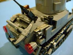 Custom Lego Stuart M3A1 4th Prototype Update (tekmoc17) Tags: tank ww2 lego brick stuart m3a1 prototype usa moc custom