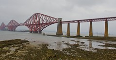 The Bridge to Nowhere ... (somabiswas) Tags: forth bridge edinburgh scotland fog lakes unitedkingdom saariysqualitypictures