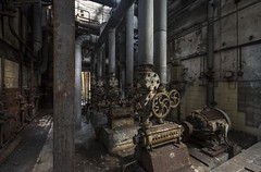 Pump House (Camera_Shy.) Tags: derelict disused rusty old pumps generator abandoned paper mill urban exploration abandonment decayed germany ue exploring europe industrial urbex industry nikon d810