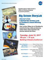 Big Screen StoryLab: Director's Cut: A Behind-the-Scenes Look at Goddard's Award-Winning Videos (13winds) Tags: genna duberstein rich melnick sophia roberts jefferson beck dan gallagher david ladd