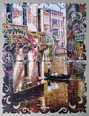 Afternoon Chat (pefkosmad) Tags: jigsaw puzzle leisure pastime hobby complete jumbo decopuzzle 1000pieces afternoonchat 01965 sungkim venice canal gondola gondolier painting art secondhand used