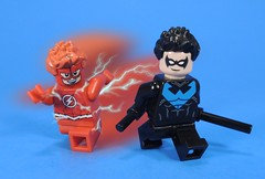 Grayson and West (MrKjito) Tags: lego minifig super hero comic comics dc rebirth dick grayson nightwing flash wally west titans teen