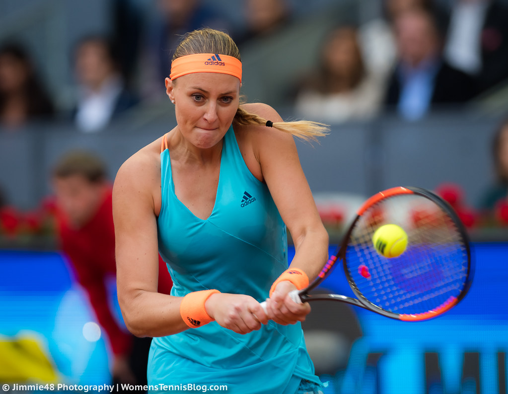Jelena Jankovic Cameltoe Ideal photos from halep's victory over mladenovic in the mutua madrid