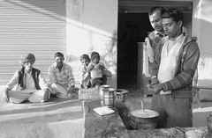 The Tea Maker (peterkelly) Tags: digital bw canon 6d india asia tordisagar chaitea pot boiling tea street merchant vendor water essentialindia gadventures