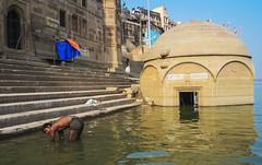 Lo que significa el Ganges (Nebelkuss) Tags: india uttarpradesh varanasi benarés asia rio river abluciones templo temple ghats fujixpro1 fujinonxf23f14